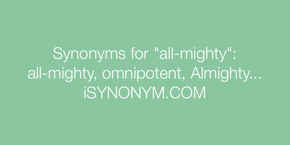 Synonyms all-mighty