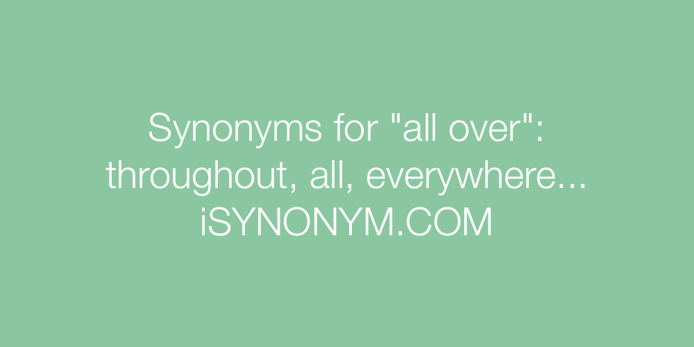 Synonyms all over