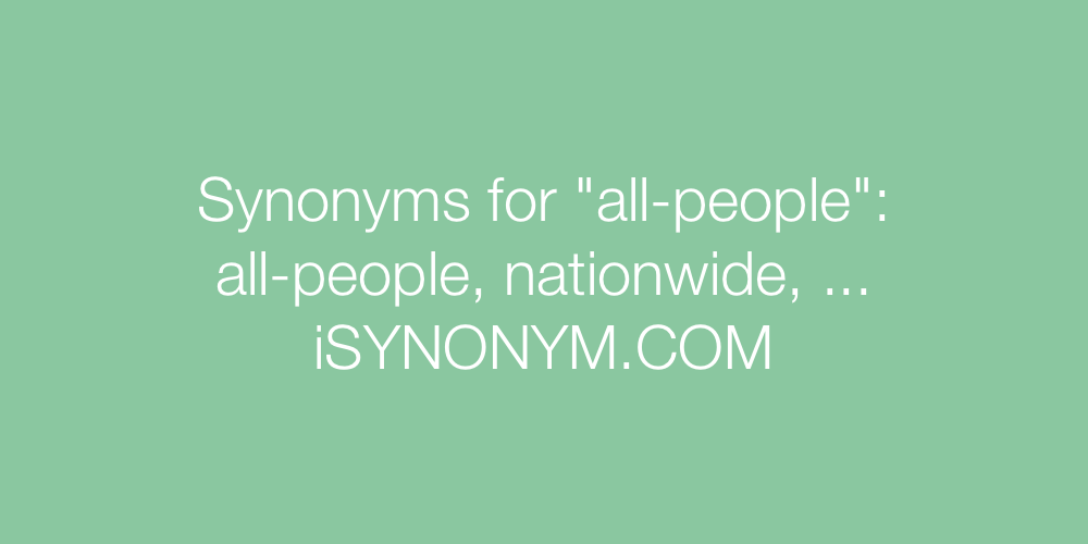 Synonyms all-people