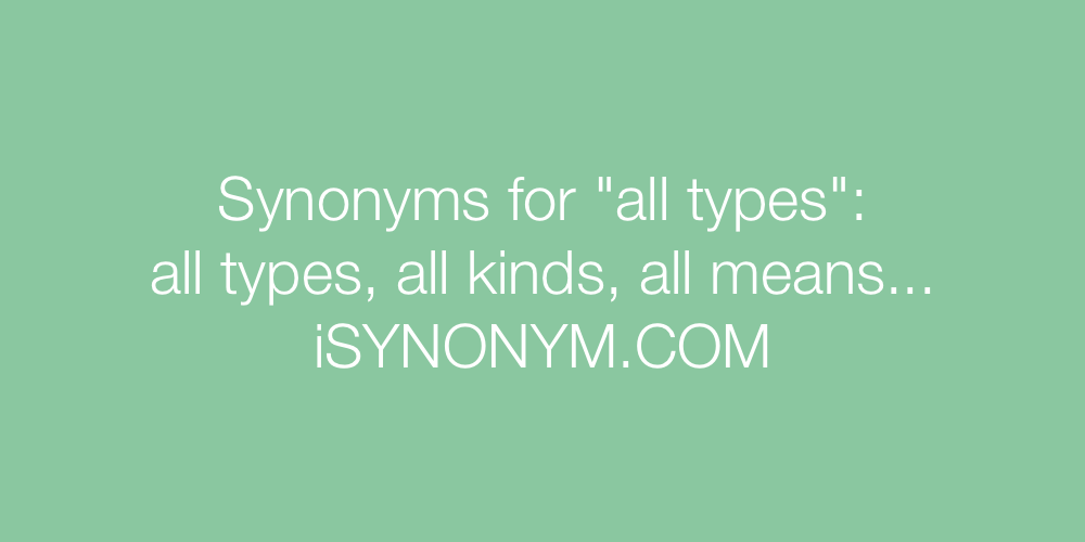 Synonyms all types