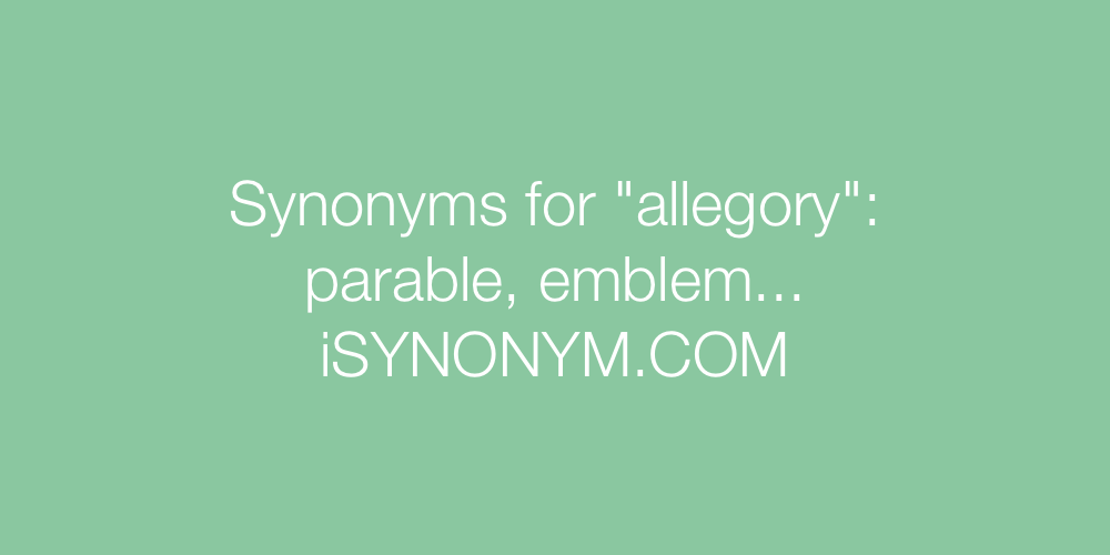 Synonyms allegory