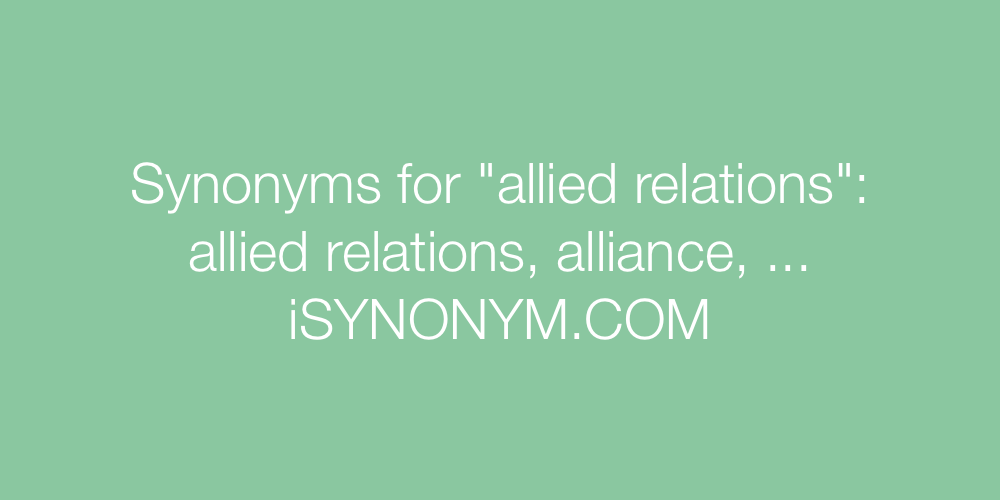 Synonyms allied relations