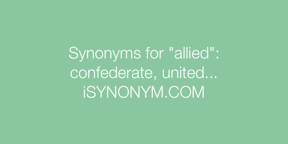 Synonyms allied