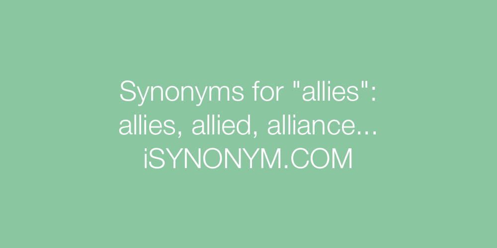Synonyms allies