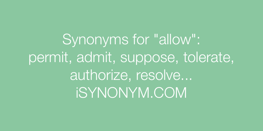 Synonyms allow