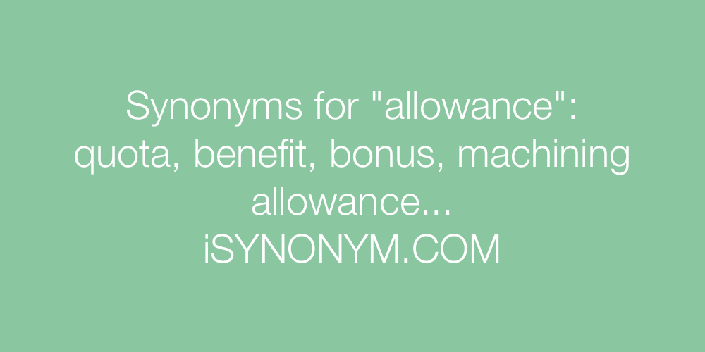 Synonyms allowance