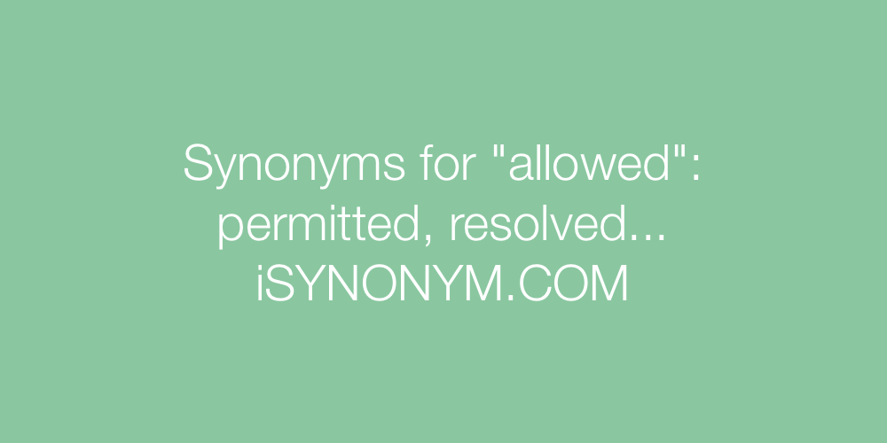 Synonyms allowed
