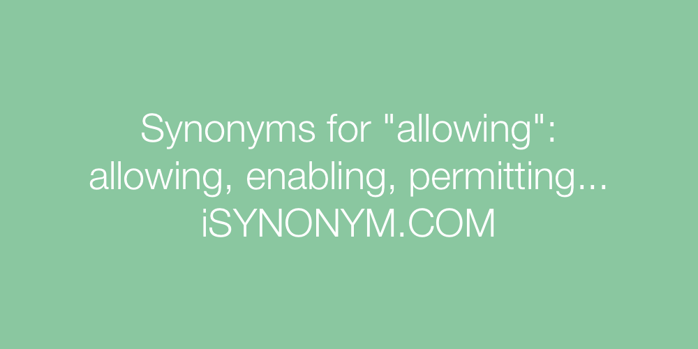 Synonyms allowing