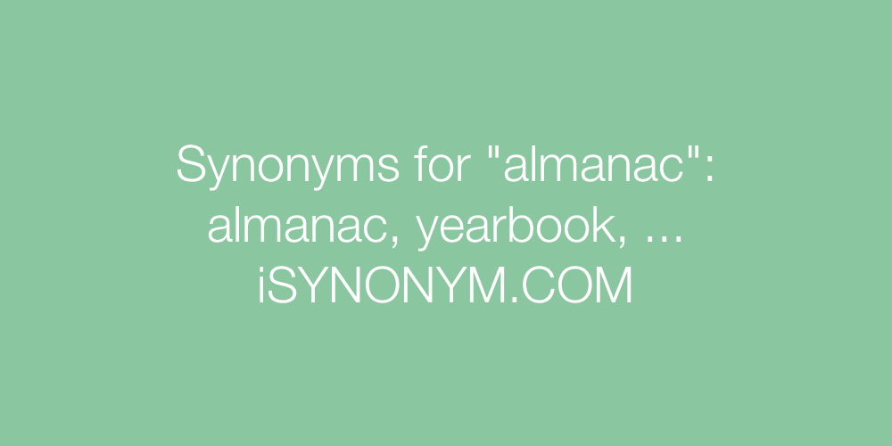 Synonyms almanac