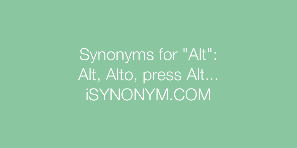 Synonyms Alt