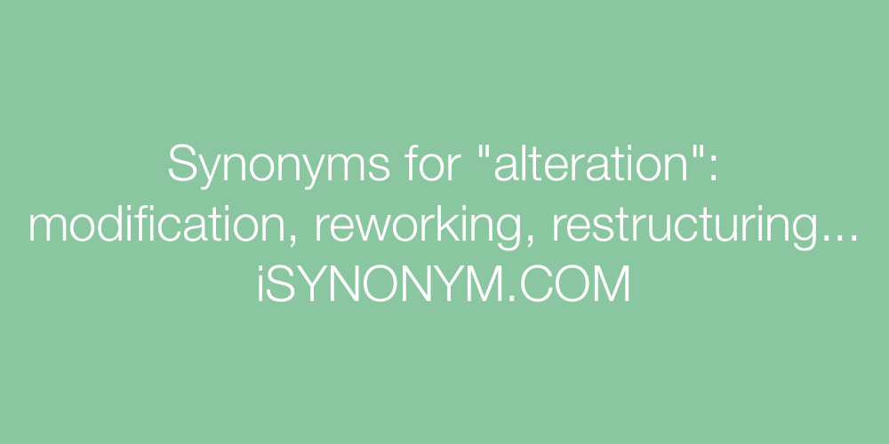 Synonyms alteration