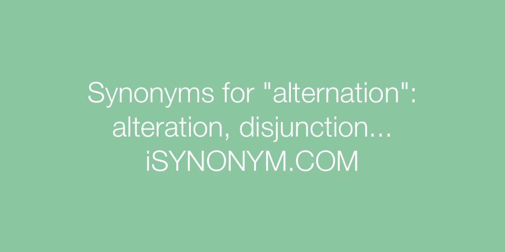 Synonyms alternation