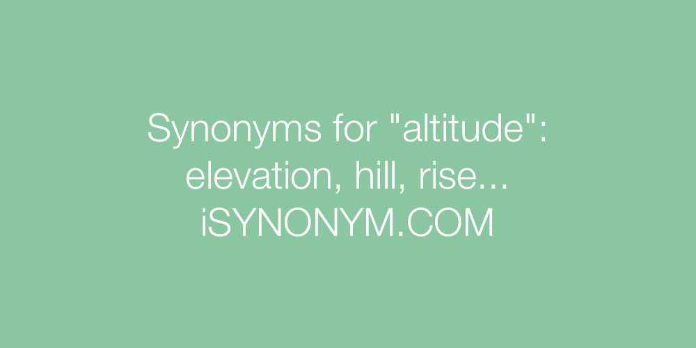 Synonyms altitude