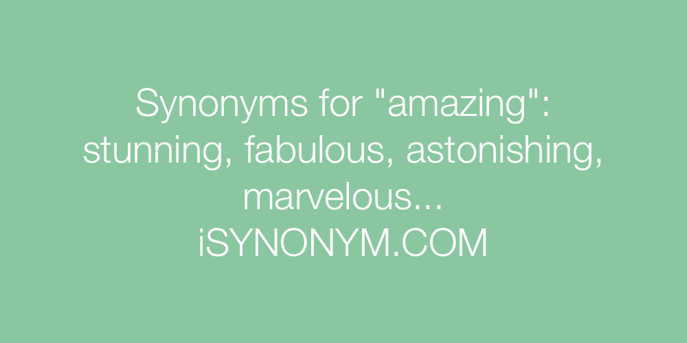 Synonyms amazing