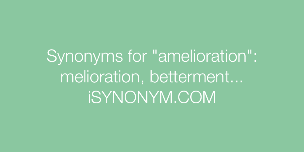 Synonyms amelioration