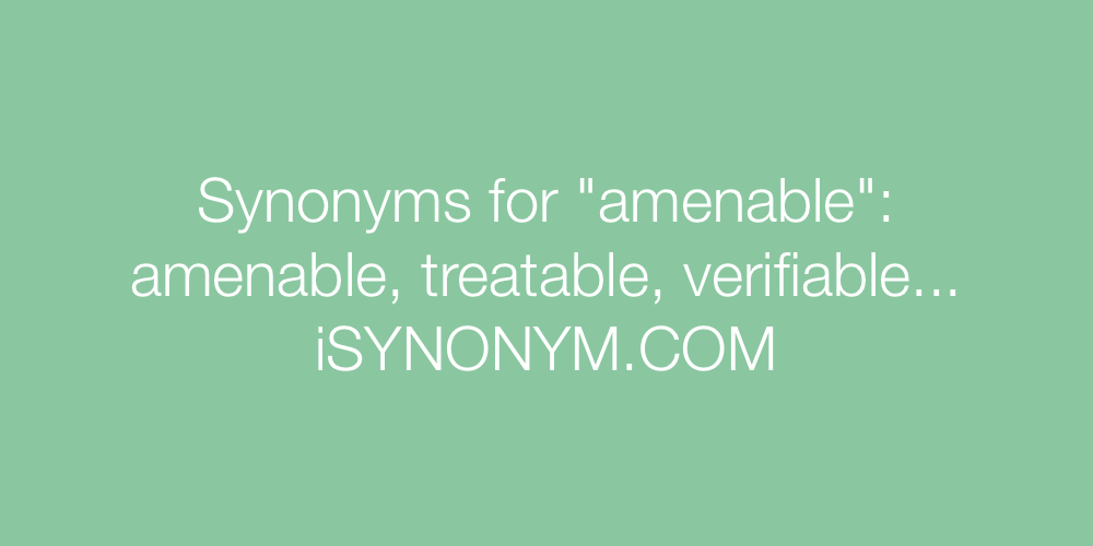 Synonyms amenable