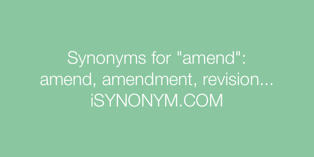 Synonyms amend