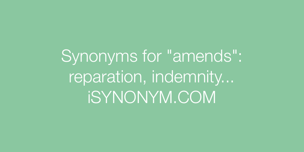 Synonyms amends
