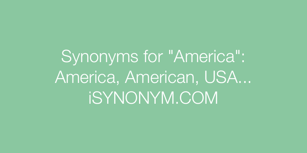 Synonyms America