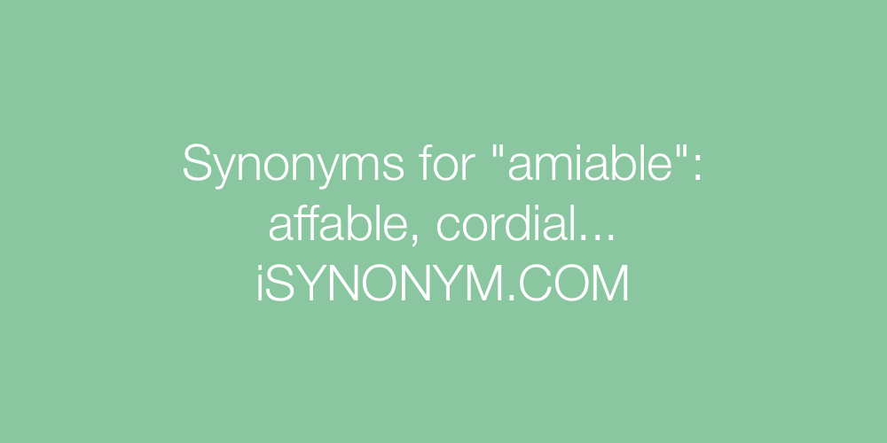 Synonyms amiable