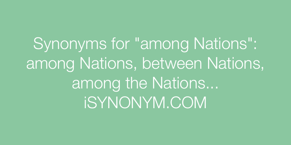 Synonyms among Nations