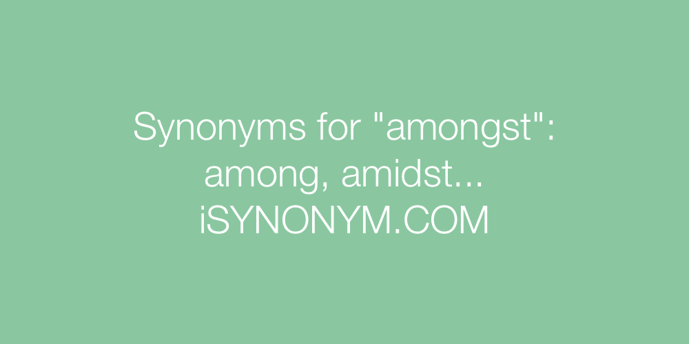 Synonyms amongst