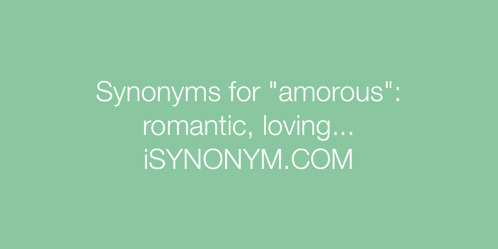 Synonyms amorous