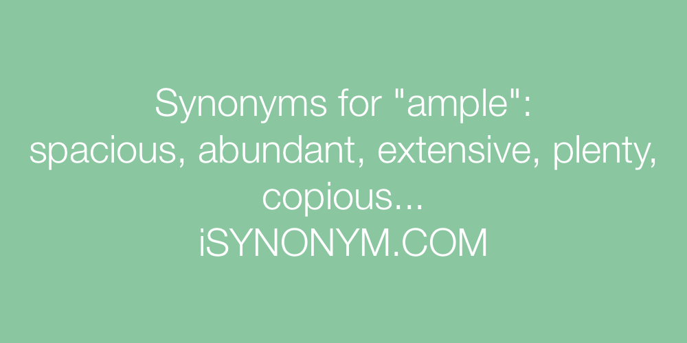Synonyms ample