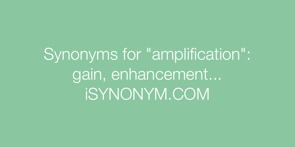 Synonyms amplification