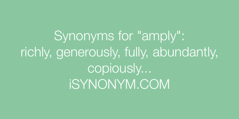 Synonyms amply