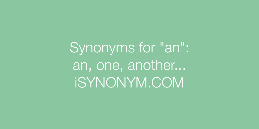 Synonyms an