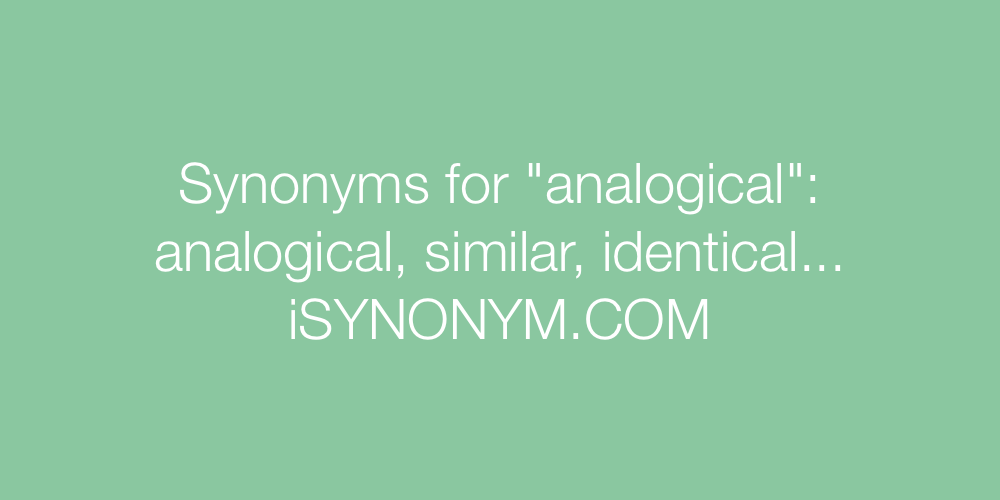 Synonyms analogical