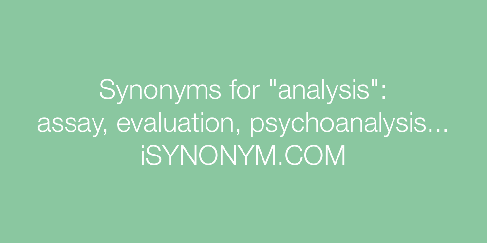 Synonyms analysis