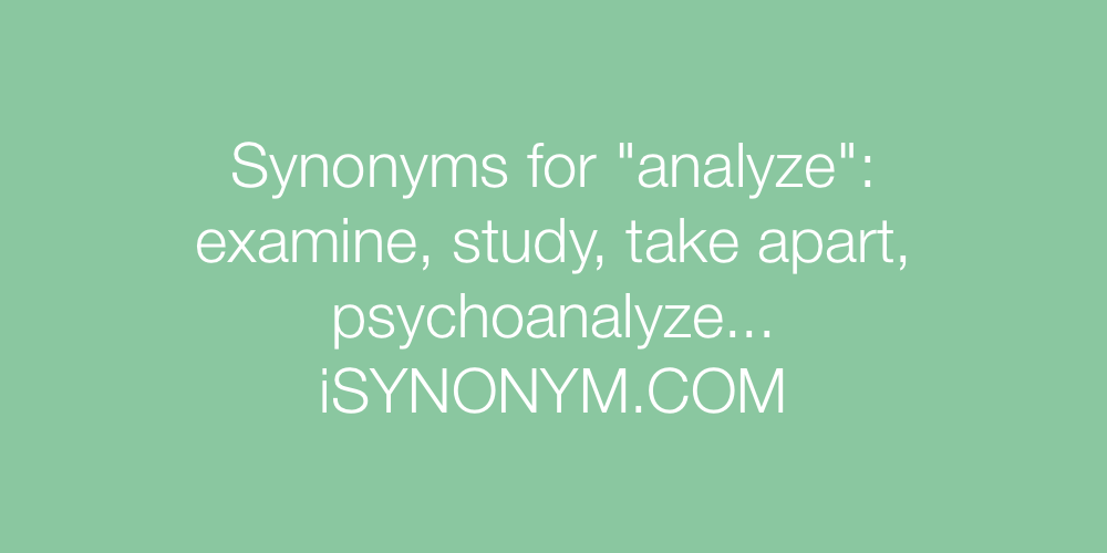 Synonyms analyze