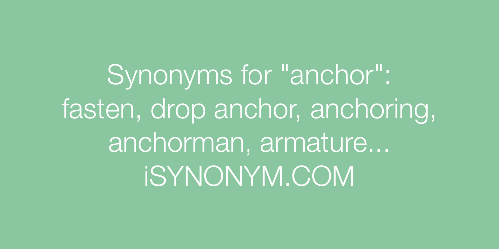Synonyms anchor