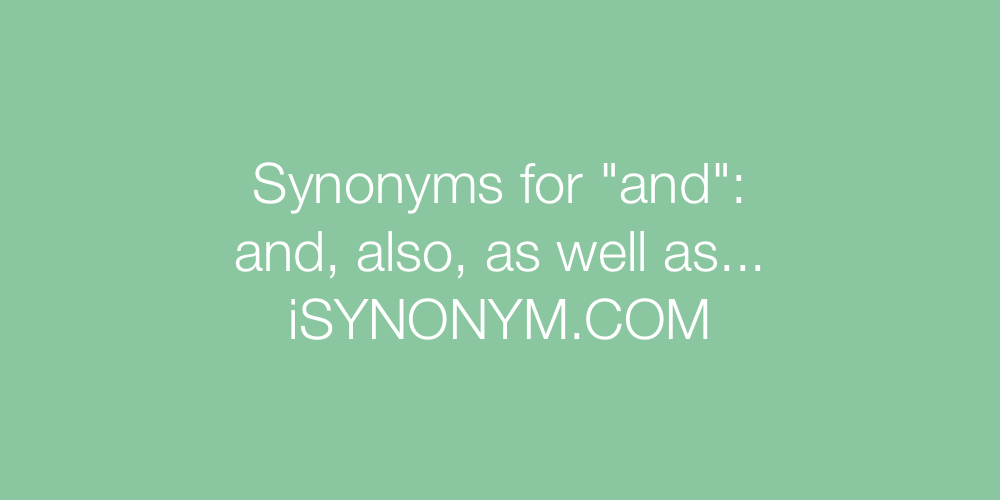 Synonyms and