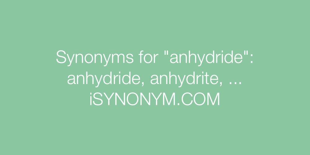 Synonyms anhydride