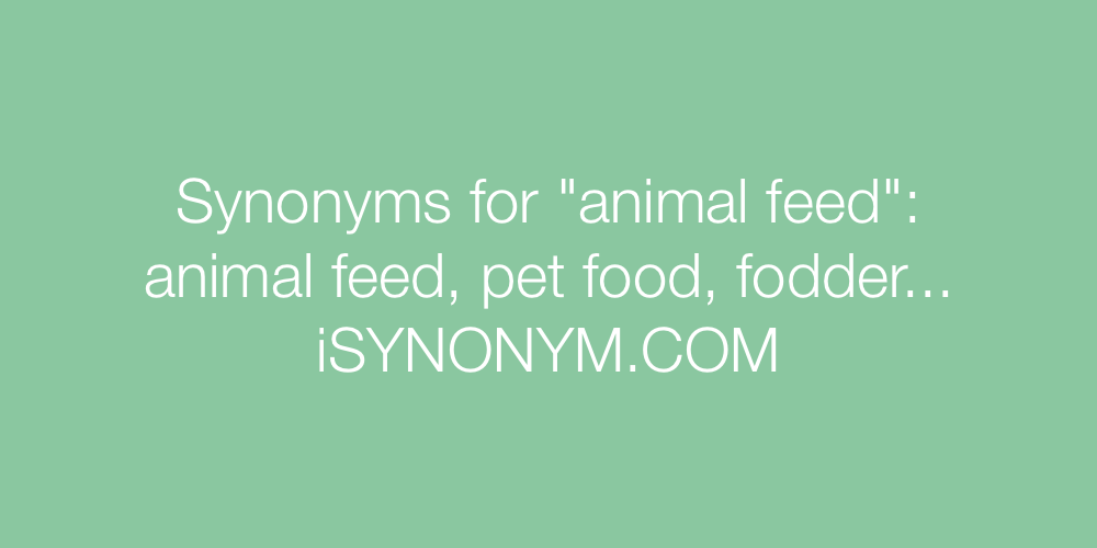 Synonyms animal feed