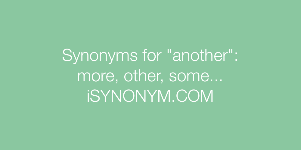 Synonyms another