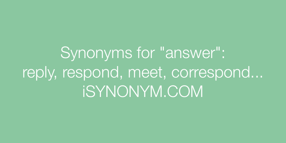 Synonyms answer