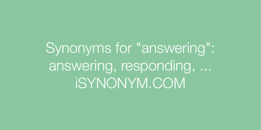 Synonyms answering