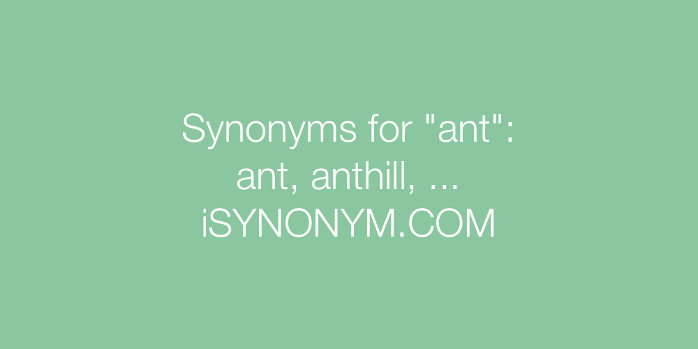Synonyms ant