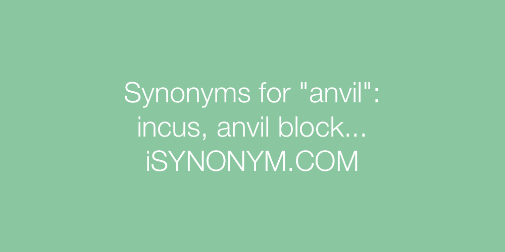Synonyms anvil