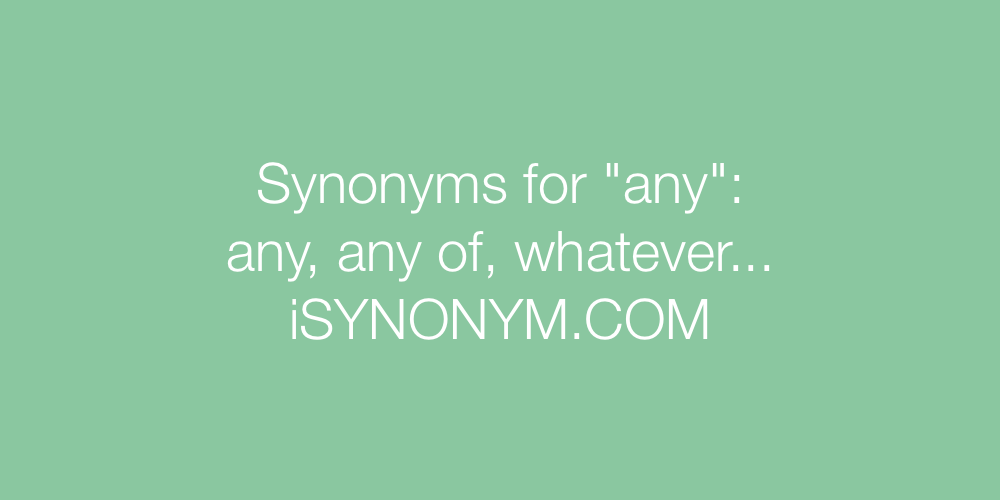 Synonyms any
