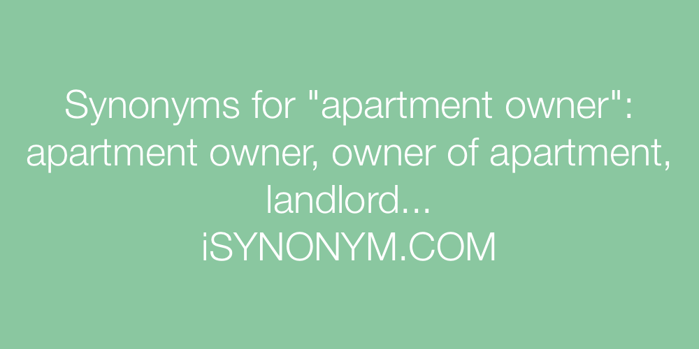 Synonyms apartment owner