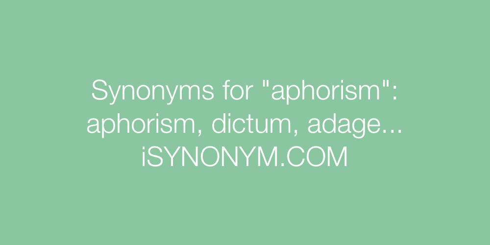 Synonyms aphorism