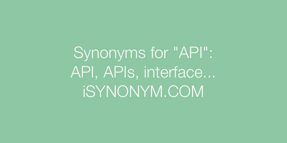 Synonyms API