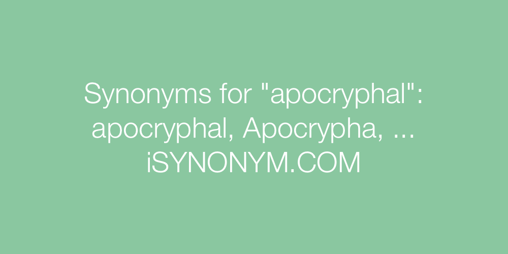 Synonyms apocryphal
