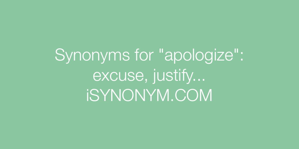 Synonyms apologize