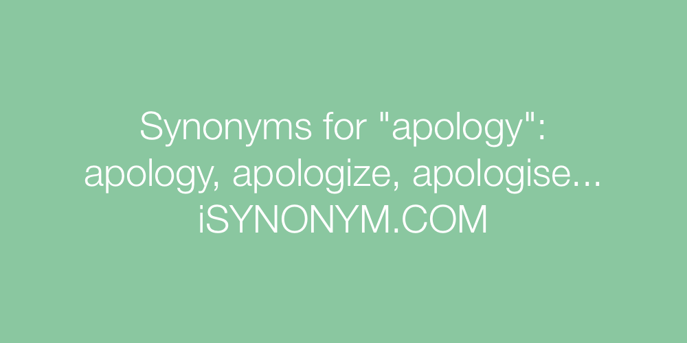 Synonyms apology